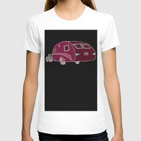 Cars and Campers Womens Fitted Tee White SMALL
