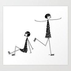 Roller skating Art Print