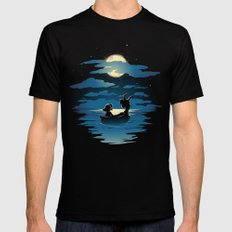 Oceans Black Mens Fitted Tee SMALL