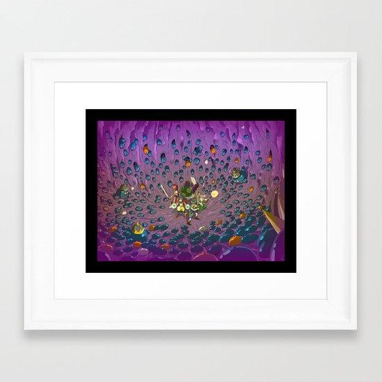 Slimed ! Framed Art Print