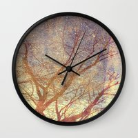 Galaxy + Nature Reflection Wall Clock
