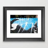 Humpback Fence Framed Art Print