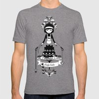 Lady Cake Mens Fitted Tee Tri-Grey SMALL