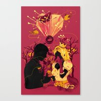 2 Hearts 2 Love Canvas Print