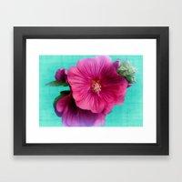 Pink Satin Framed Art Print