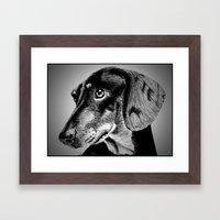 oh my dog ! Framed Art Print