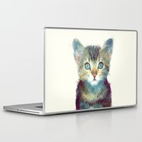 cats Laptop & iPad Skins featuring Cat // Aware by Amy Hamilton