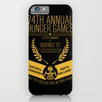 iPhone & iPod Case featuring 74th annual hunger games poster by BomDesignz