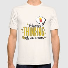 Always Thinking of Ice Cream Mens Fitted Tee Natural SMALL