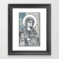 Madonna Of Today's Horos… Framed Art Print