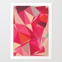 Ruby And Raspberry Art Print