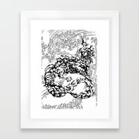 A Dragon from your Subconscious Mind #2 Framed Art Print