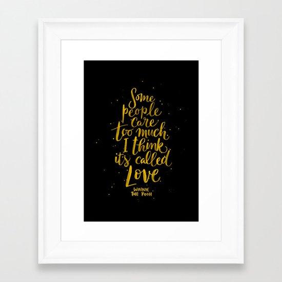 It's Called Love  Framed Art Print