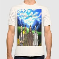 No Place Like Home Wizar… Mens Fitted Tee Natural SMALL