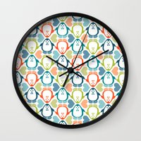NGWINI - Penguin Love Pa… Wall Clock