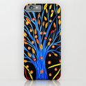 Blue tree/abstract iPhone & iPod Case