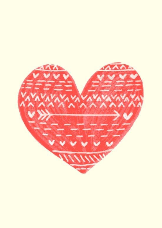 Tribal Heart Art Print