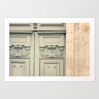 Paris Mint Door Art Print