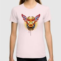 Yare Devil Mask Womens Fitted Tee Light Pink SMALL