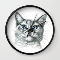 Cross Eyed cat G122 Wall Clock