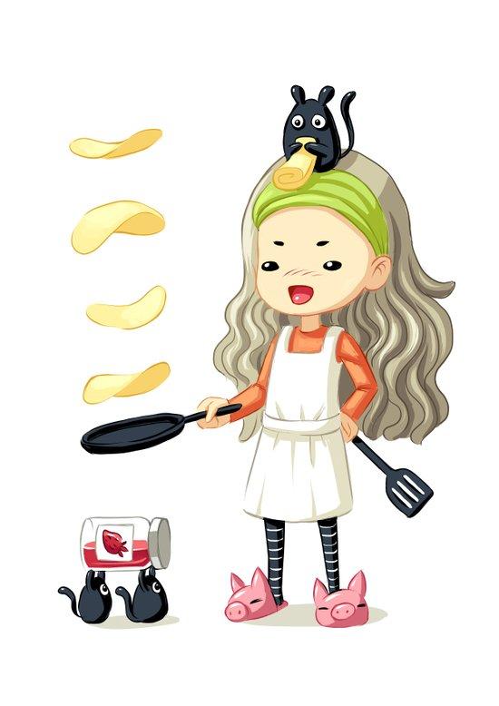Pancake Master Art Print