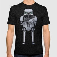 Star Storm Fighter Mens Fitted Tee Tri-Black SMALL