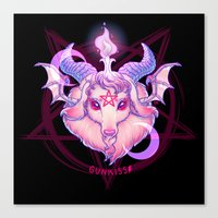 Baphomet (WHITE) Canvas Print