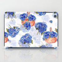 Cape Cod Hydrangeas and Baskets iPad Case