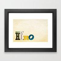 myHERO Framed Art Print