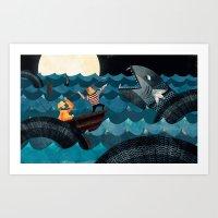 Sea Monster!! Art Print