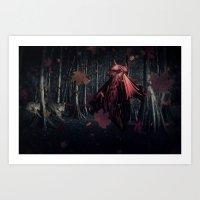 Little Miss Red Riding H… Art Print