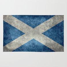 National flag of Scotland - Vintage version Rug