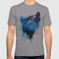 Alone As A Wolf Mens Fitted Tee Athletic Grey SMALL