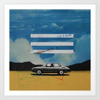 W. Rong   Collage Art Print