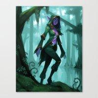 Elf Warlock, Level 1 Canvas Print