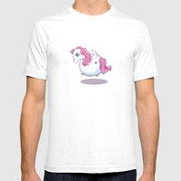 UNICORNS ARE KEWL  Mens Fitted Tee White SMALL