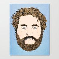 Zach Galifianakis Canvas Print