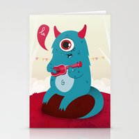 The Singing Monster Stationery Cards