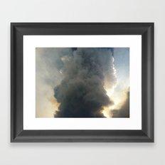 Fire Cloud Framed Art Print