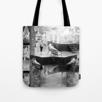 Summer space, smelting selves, simmer shimmers. [extra, 10, grayscale version] Tote Bag