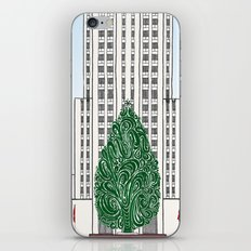 Special Edition Holiday Print: Rockefeller Center by the Downtown Doodler iPhone & iPod Skin