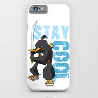 iPhone & iPod Case featuring Stay Cool Samurai Penguin by Birdskull Studios
