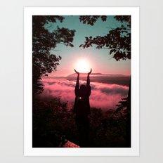Holding the Sun Art Print