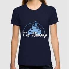 The Library  Womens Fitted Tee Navy SMALL