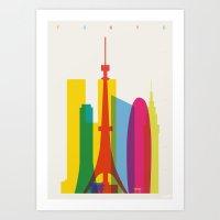 Shapes Of Tokyo. Accurat… Art Print
