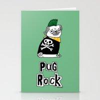 Pug Rock Stationery Cards