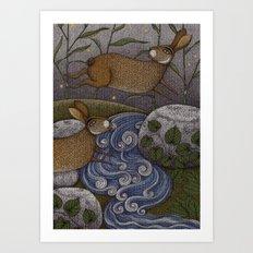 Swamp Rabbit's Reedy River Race Art Print