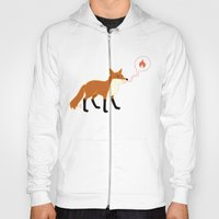 Fox With Pink Lips Hoody