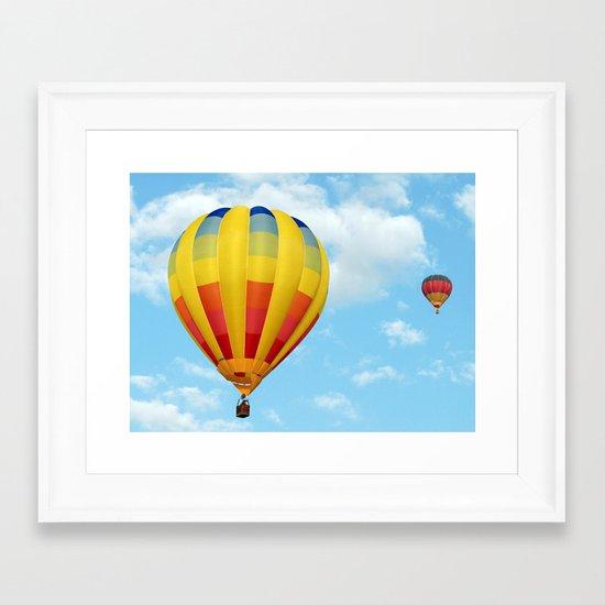 Balloons Over Dubai Framed Art Print