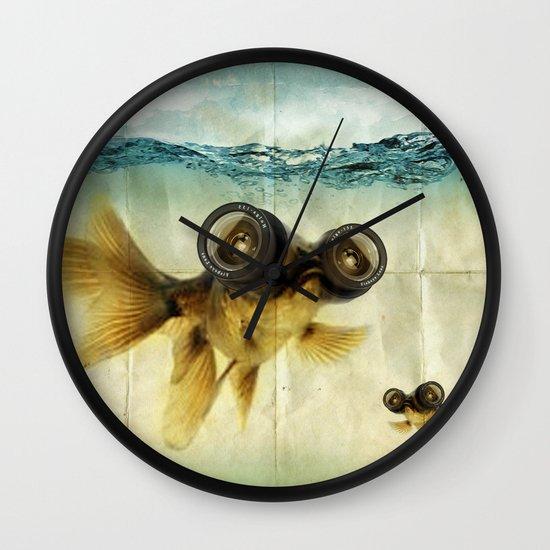 Fish eye lens 02 Wall Clock